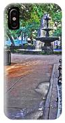 Bienville Square And The Bench 2 IPhone Case