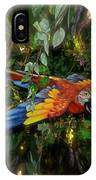 Big Glider Macaw Digital Art IPhone Case