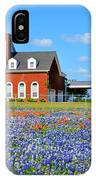 Big Red House On Bluebonnet Hill IPhone Case