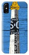 Big Sable Point Lighthouse Michigan Great Lakes License Plate Art IPhone Case