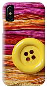 Big Yellow Button  IPhone Case