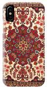 Bijar Red And Khaki Silk Carpet Persian Art IPhone Case
