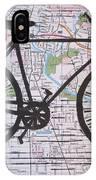 Bike 8 On Map IPhone Case
