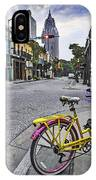 Bike And 3 Georges In Mobile Alabama IPhone X Case