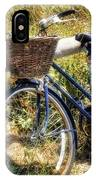 Bike At Nantucket Beach IPhone Case