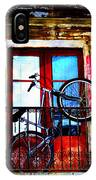 Bike In The Balcony IPhone Case