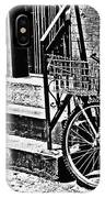 Bike In The Sun Black And White IPhone Case