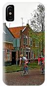 Bike Race On Orange Day In Enkhuizen-netherlands IPhone Case