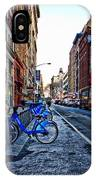 Bikes In The Snow IPhone Case
