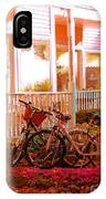 Bikes In The Yard IPhone Case