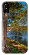 Biking To Horseshoe Lake IPhone Case