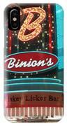 Binions Whiskey Licker Bar IPhone Case