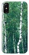 Birch Forest - Green IPhone Case