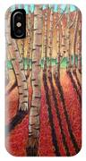 Birch Trees At Dusk IPhone Case