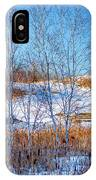 Birches And Cattails IPhone Case