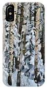 Birches In The Winter IPhone Case
