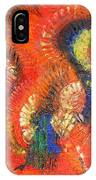 Bird Of Paradise Orange Red Modern Abstract By Chakramoon IPhone Case
