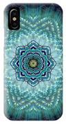 Bird Tail Lotus Mandala IPhone Case