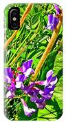 Bird Vetch On Bow River Trail In Banff National Park-alberta  IPhone Case
