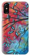 Birds And Blossoms By Madart IPhone Case