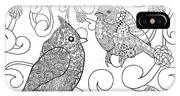 Birds Coloring Page. Animals. Hand IPhone X Case