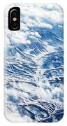 Bird's Eye View On Snowy Mountains IPhone Case