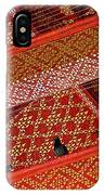 Birds In Rafters Of Royal Temple At Grand Palace Of Thailand  IPhone Case