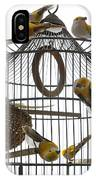 Birds Inside And Outside A Cage IPhone Case