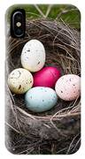 Bird's Nest With Easter Eggs IPhone Case by Edward Fielding