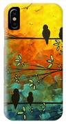 Birds Of A Feather Original Whimsical Painting IPhone Case