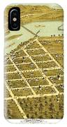 Birdseye View Of Prairie Du Sac Wisconsin 1870 IPhone Case