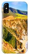 Bixby Creek Bridge Oil On Canvas IPhone Case