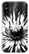 Black And White Clematis IPhone Case