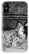 Black And White Dog IPhone Case
