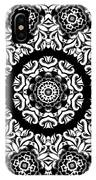 Black And White Medallion 10 IPhone Case