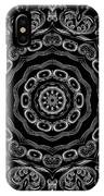 Black And White Medallion 2 IPhone Case