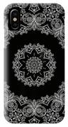 Black And White Medallion 6 IPhone Case