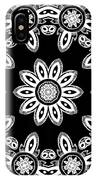 Black And White Medallion 8 IPhone Case