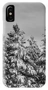 Black And White Snow Covered Trees IPhone Case