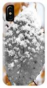Black And White Snow Leaf IPhone Case