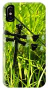 Black And White Winged Dragonfly IPhone Case