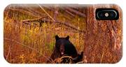 Black Bear Sticking Out Her Tongue  IPhone Case