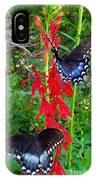 Black Butterflies IPhone Case