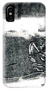 Black Cat Monoprint-2 IPhone Case