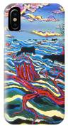 Black Cows In Flood IPhone Case