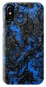 Black Cracks With Blue IPhone Case