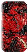 Black Cracks With Red IPhone Case