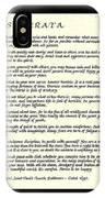 Black Frame Original Desiderata Poem IPhone Case