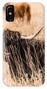 Black Highland Cow IPhone Case
