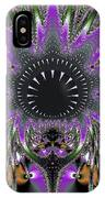 Black Magic Wand Fractal IPhone Case